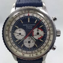 Gallet By Racine Excel-O-Graph Chronograph Rare Steel Model