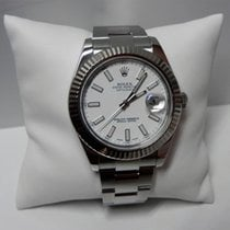 Rolex Datejust II 116334 18k White Gold Bezel Stainless Steel