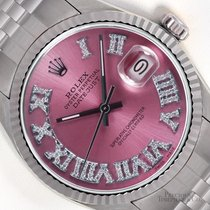 Rolex 36mm Automatic pre-owned Datejust (Submodel) Pink
