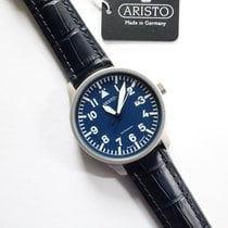 Aristo Steel Automatic Blue Arabic numerals 42mm new Beobachter