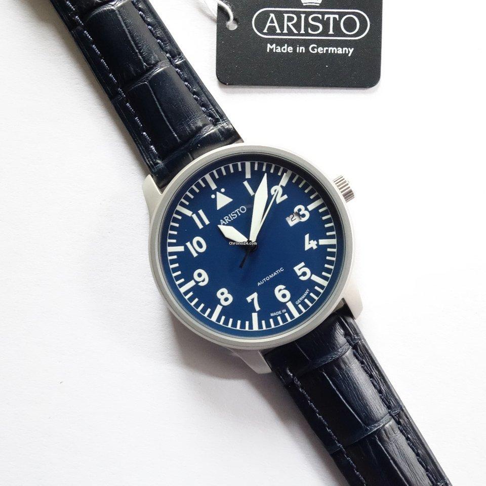 Vintage 24 Fliegeruhr Blaue BandDp Aristo 3h157Dunkelblaues wOX8Pkn0