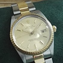 Rolex Vintage Two Tone Date steel and 18 ky gold ref.15053  nice