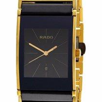 Rado Integral Stainless Steel Gold Black Men's Swiss Quartz...