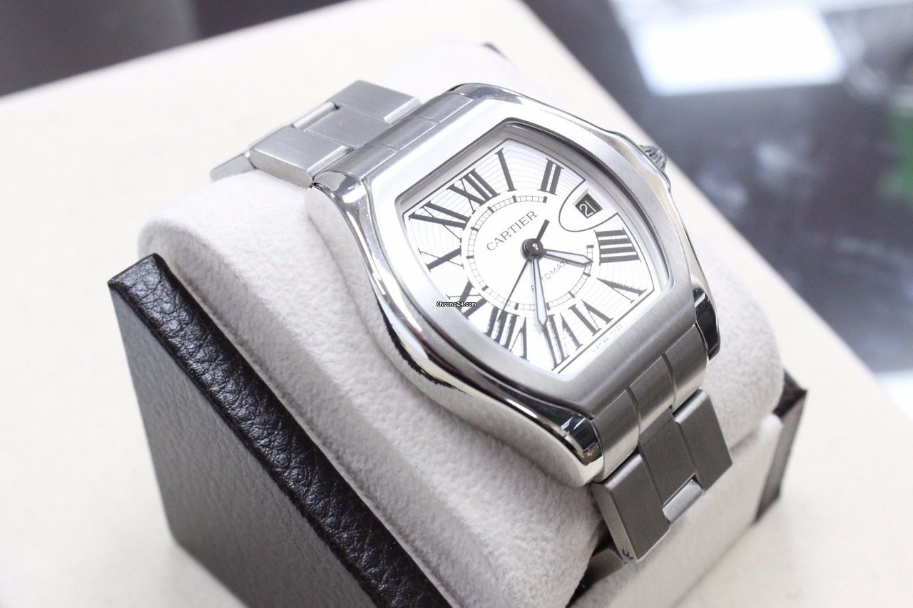a6c12d6355d Cartier Roadster Large 3312 W6206017 Stainless Steel Silver Dial for AU   4