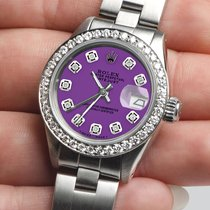 Rolex Lady-Datejust Staal 26mm Paars