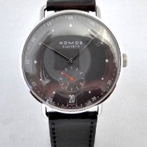 NOMOS Metro 38 Datum pre-owned 38,5mm Black Date Leather