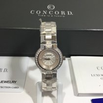 Concord White gold Quartz Mother of pearl 24mm new La Scala