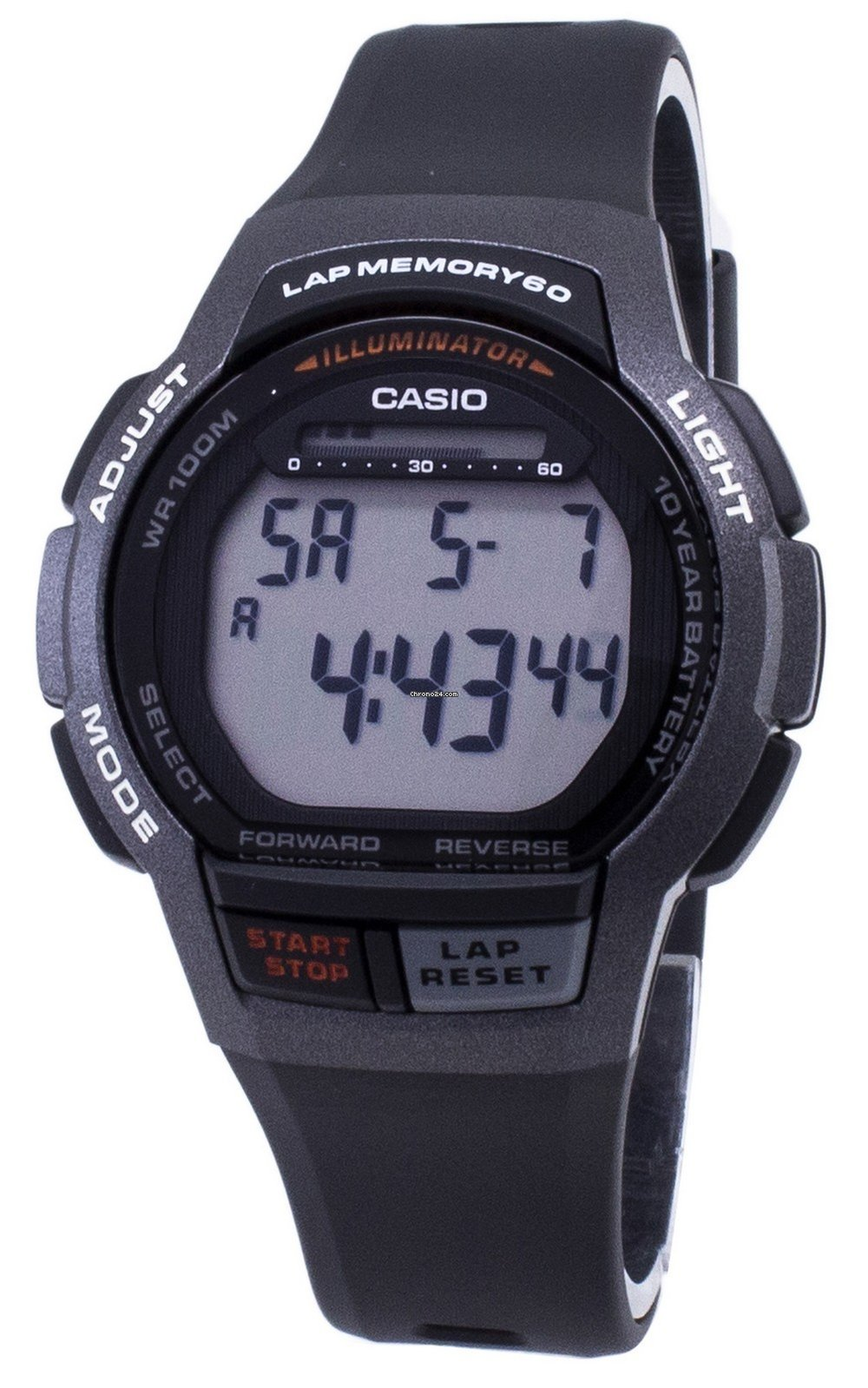 Casio Youth WS 1000H 1AV WS1000H 1AV Illuminator Digital Men's Watch