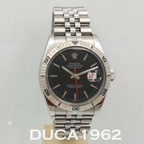 Rolex Datejust Turn-O-Graph Steel 36mm Black No numerals