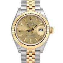 Rolex Lady-Datejust Gold/Steel 28mm Champagne No numerals