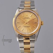 Rolex Oyster Perpetual Acero y oro 34mm Champán