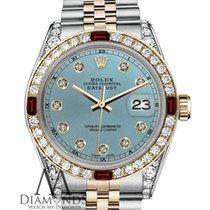 Rolex Lady-Datejust Goud/Staal 26mm Blauw Geen cijfers