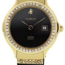 Hublot 139.10.5 Classic MDM Quartz in Yellow Gold with Diamond...
