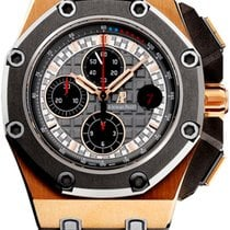 Audemars Piguet Royal Oak Offshore Chronograph Ροζέ χρυσό 44mm Γκρι Xωρίς ψηφία
