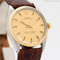 Rolex Automatic Champagne No numerals 34mm pre-owned Oyster Perpetual 34