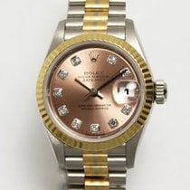 Rolex White gold Automatic 26mm pre-owned Lady-Datejust