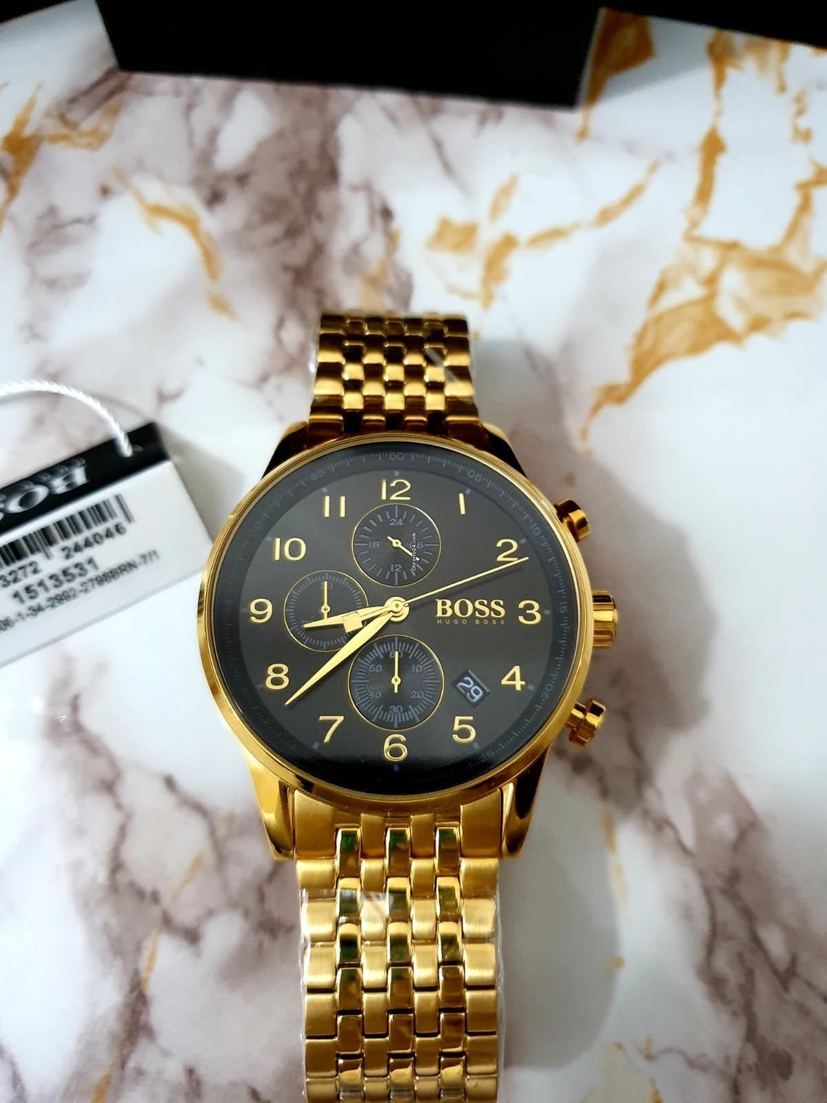 a64800403e71 Hugo Boss Watch HB1513531 Gold Chronograph en venta por MX  5