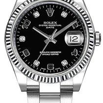 Rolex Oyster Perpetual Date Ocel 34mm Černá