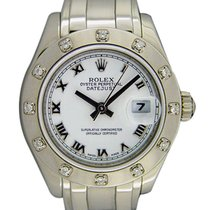 Rolex Lady-Datejust Pearlmaster 29mm Blanco Romanos