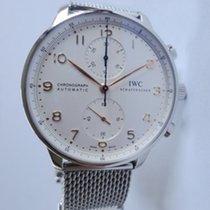 IWC Portuguese Chronograph Steel 40,9mm White Arabic numerals