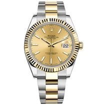 Rolex Datejust II Steel and Yellow Gold Champagne Dial 41mm