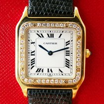 Cartier Santos Dumont Ultra Thin Yellow Gold 18K 750 Diamonds...