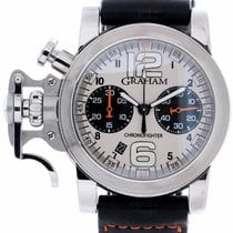 Graham Chronofighter R.A.C. Stahl 44mm Silber