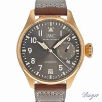 IWC Rose gold Automatic Grey Arabic numerals 46mm new Big Pilot