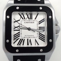 Cartier Santos 100 Large Automatic Black Rubber 2656 W20121u2