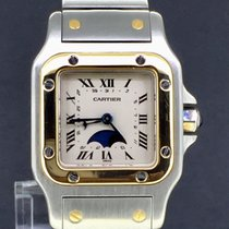 Cartier Santos Galbée Moonphasé Gold&Steel 24MM (BOX-ONLY)