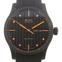 Mido Multifort Stal 42mm Czarny