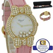 Chopard Happy Diamonds Żółte złoto 26mm Biały