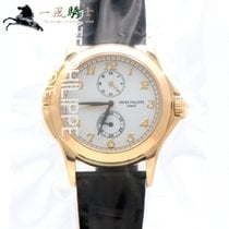 Patek Philippe Travel Time Yellow gold 37mm Silver