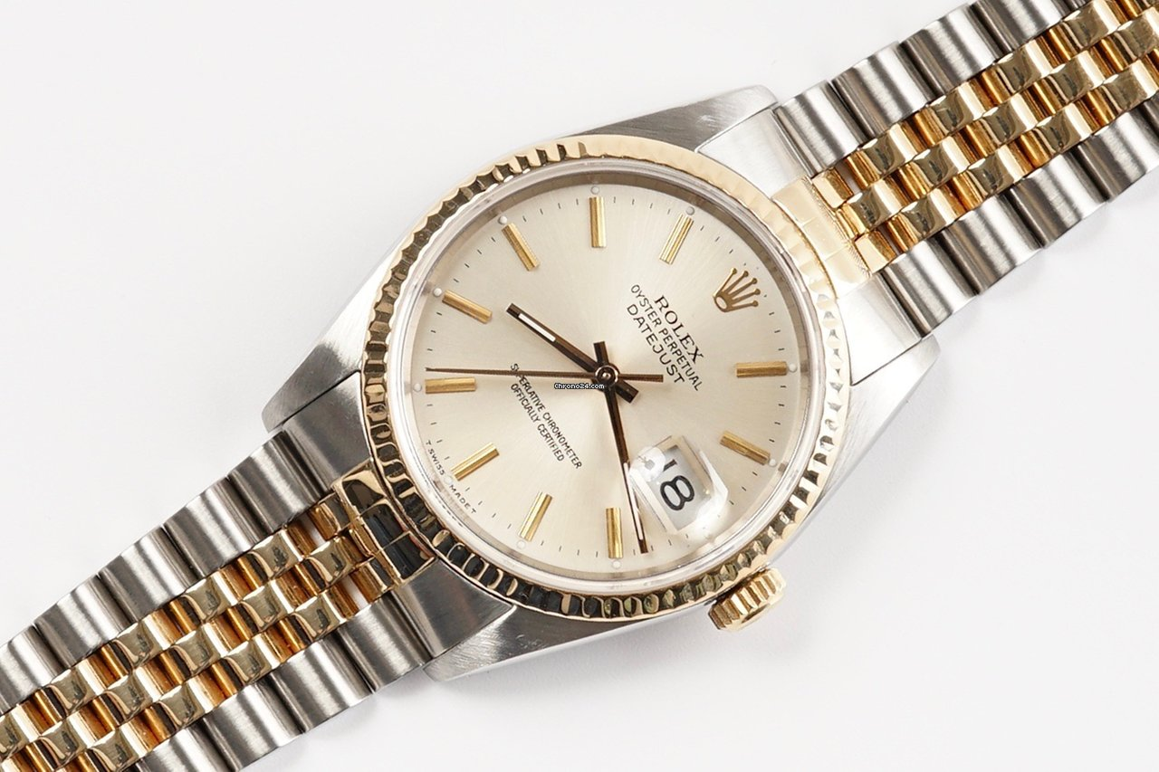 Rolex Oyster Perpetual Datejust 16233 (1989) Ivory Dial