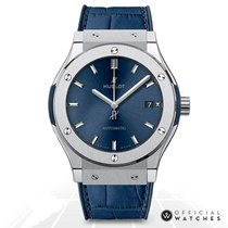 Hublot Titanium Automatic Blue No numerals 45mm new Classic Fusion Blue