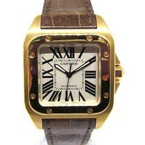 Cartier Santos 100 Жёлтое золото 32mm