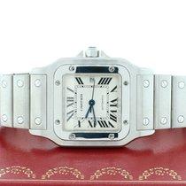 Cartier Santos Galbee Large Silver Roman Dial Automatic Steel...