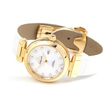 Omega De Ville Ladymatic Or jaune 34mm Blanc