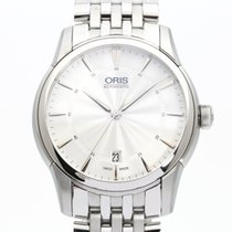 Oris Artelier Date pre-owned 40mm Silver Date Steel