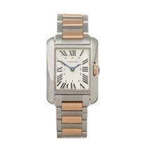 Cartier Tank Anglaise pre-owned 22mm Gold/Steel