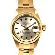 Rolex Oyster Perpetual Lady Date Oro amarillo 26mm Plata Sin cifras España, Marbella