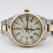 Rolex Oyster Perpetual 34 Gold/Steel 34mm White No numerals
