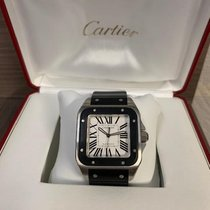Cartier Santos 100 Acier 38mm Blanc Romain France, Montpellier