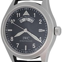 IWC Pilot Spitfire UTC Steel 39mm Black Arabic numerals