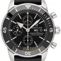 Breitling Superocean Héritage II Chronographe Stahl 44mm Schwarz