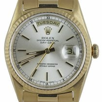 Rolex Day-Date 36 Yellow gold 36mm Silver United States of America, New York, Smithtown