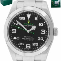 Rolex Air King Steel 40mm Green Arabic numerals United States of America, New York, Smithtown