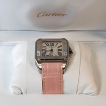 Cartier Santos 100 Steel Pink Roman numerals United States of America, Florida, Sunny Isles