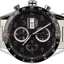 TAG Heuer Carrera Calibre 16 Steel 43,00mm Black Arabic numerals