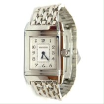 Jaeger-LeCoultre Steel Manual winding White Arabic numerals 21mm pre-owned Reverso Duetto